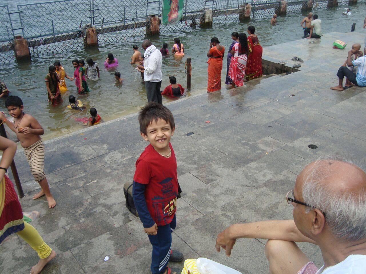 Holy Dip in River Krishna