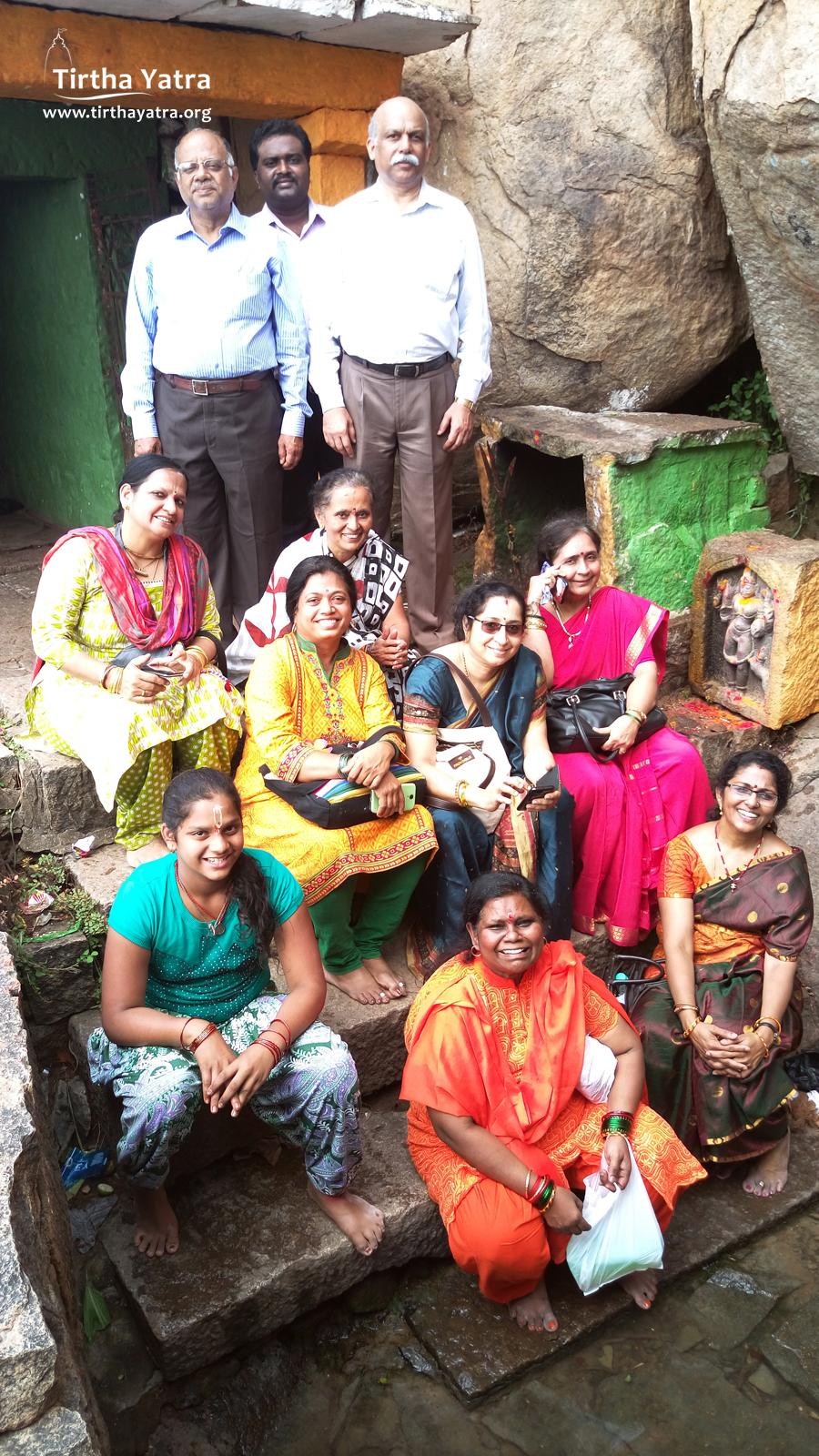 Yatri at Lakshmana Tirtha