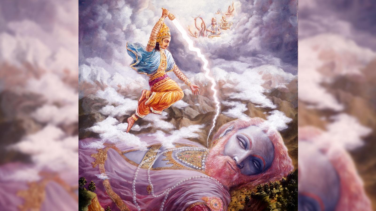 Indra kills Vritrasura
