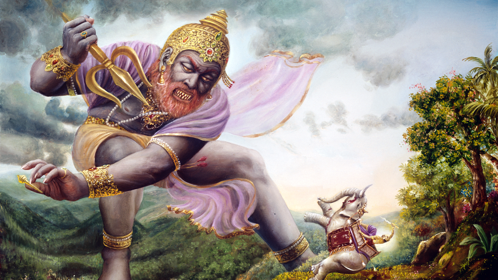 Vritrasura attacks Indra