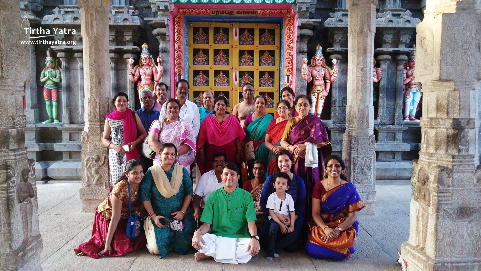 Group in front of the Vaikuntha Dwara