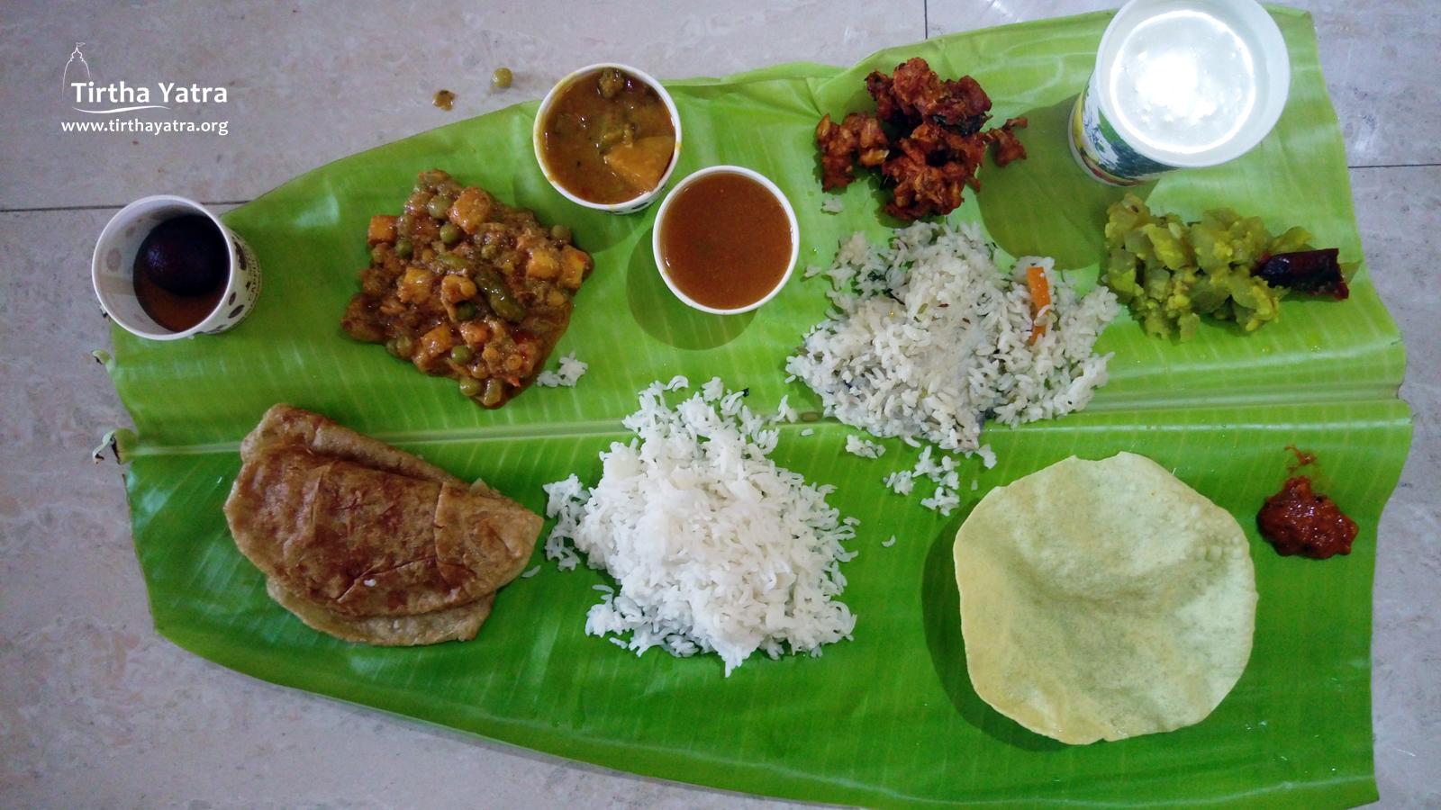 Maha-prasadam in ISKCON Trichy