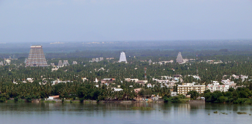 A view of Srirangam