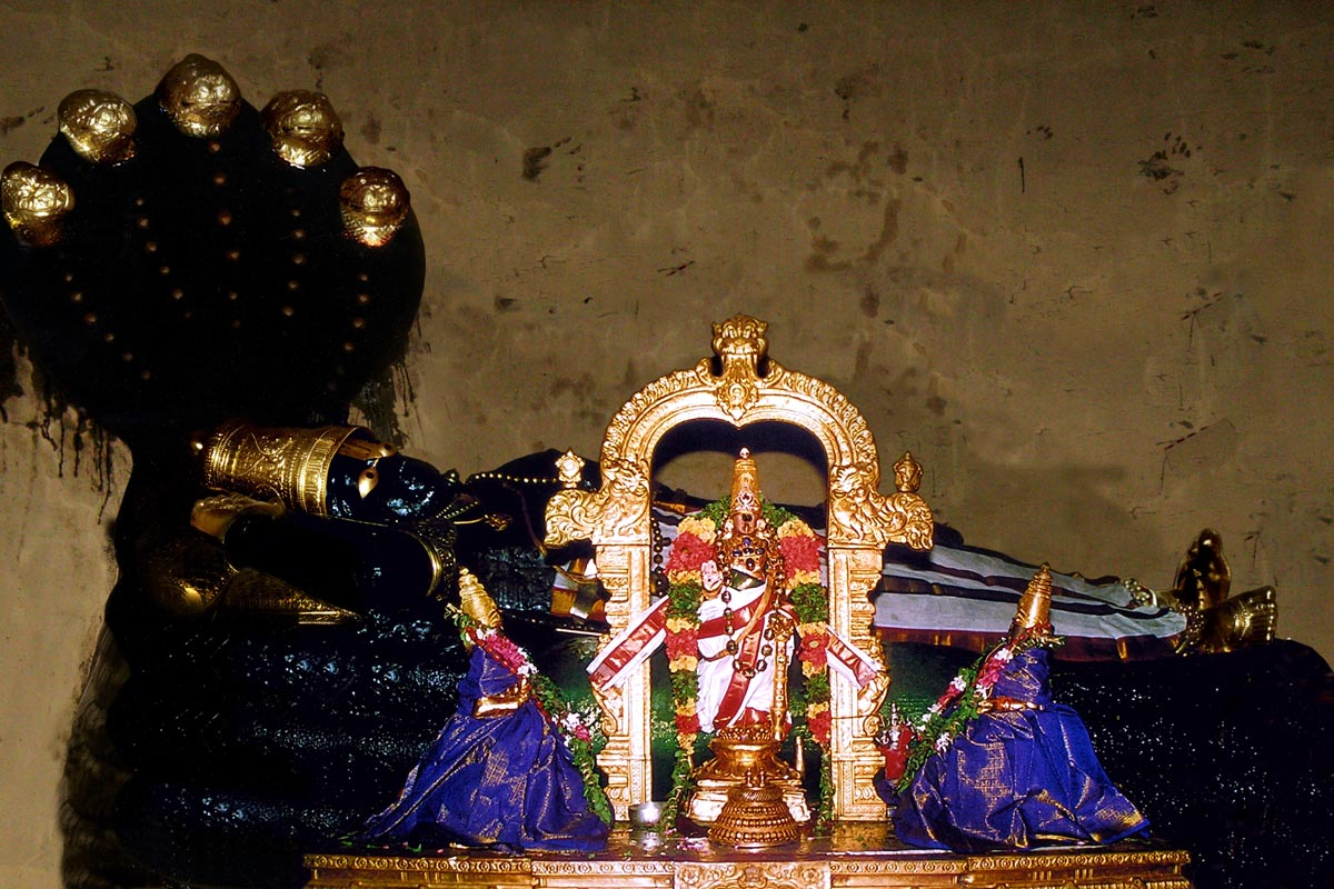 Lord Ranganatha in Srirangam temple