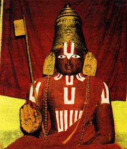 Sri Ramanujacharya's body (Thirumeni) preserved in Srirangam temple