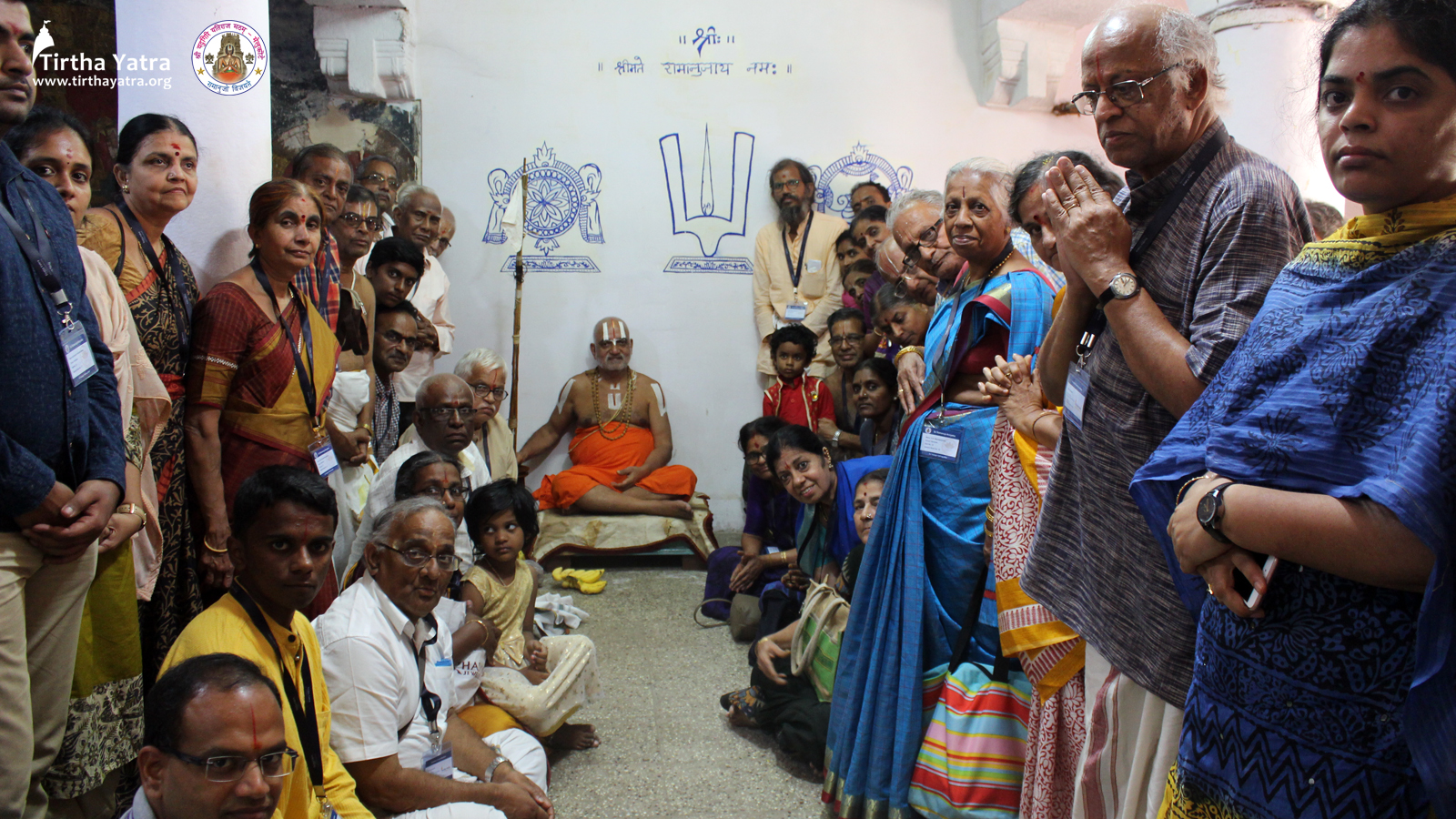 Devotees with His Holiness Sri Yadugiri Yathiraja Jeeyar Swami