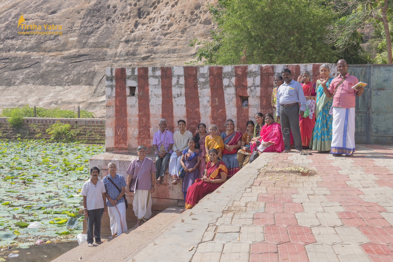 Narasingham rock cut temple pond visit during Pandiya Nadu Divya Deshams Yatra