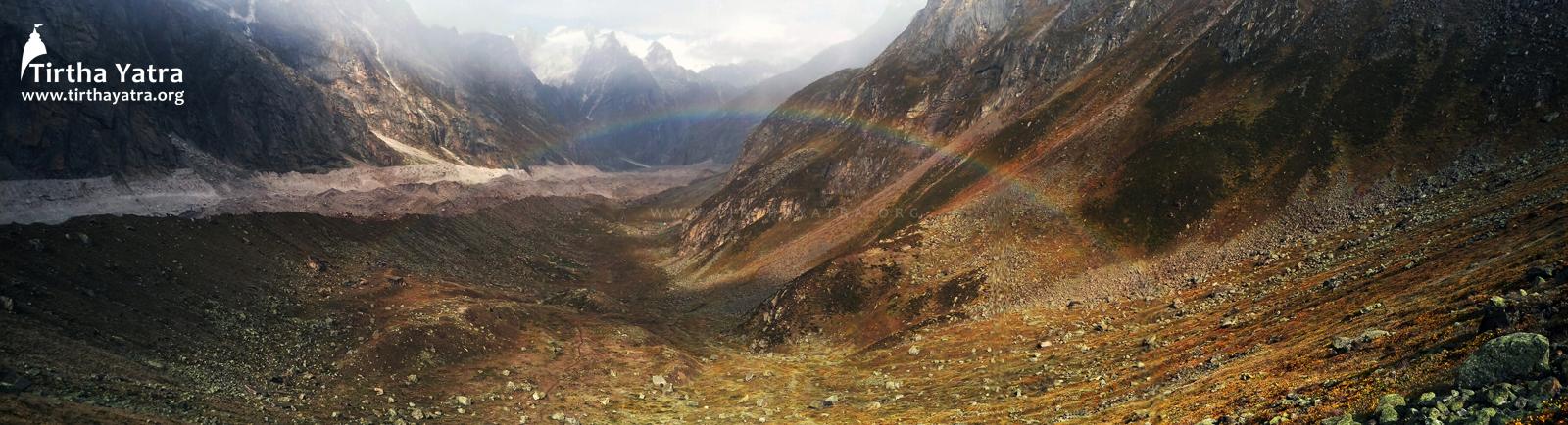 Rainbow over Satopanth Valley