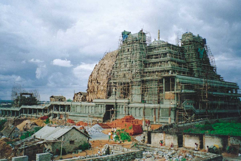ISKCON Bangalore Main structure construction photo iskconbangalore
