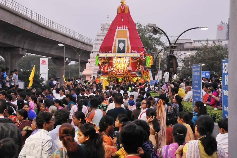 Ratha Yatra at ISKCON Bangalore